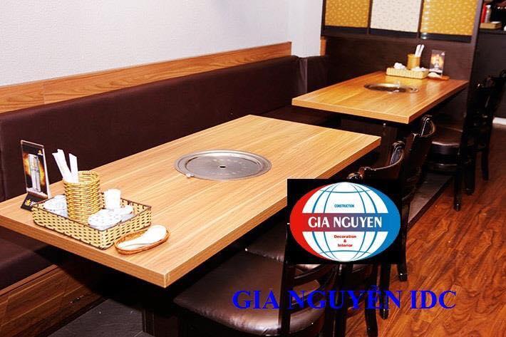 Thiết kế nhà hàng bàn nướng không khói Hàn Quốc cao cấp