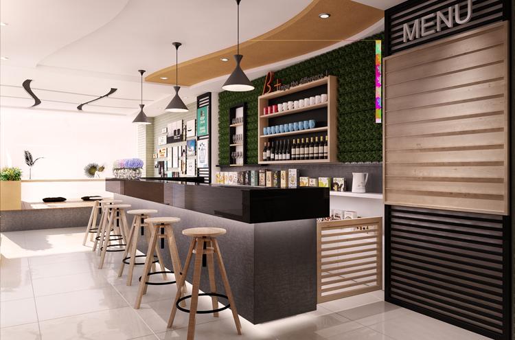 Tư vấn thiết kế thi công nội thất quán trà sữa trọn gói HCM