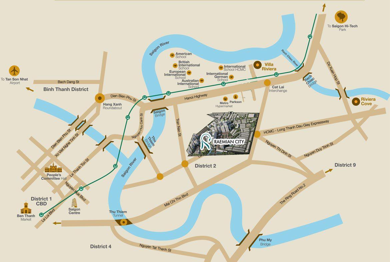 Vị trí Raemian City An Phú có tiềm năng ra sao?